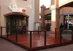 We also make decks for restaurants and other entertainment areas.