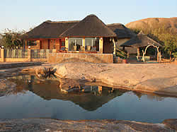 Klein Bolayi Game Lodge offers 4 star accommodation in thatched cottages